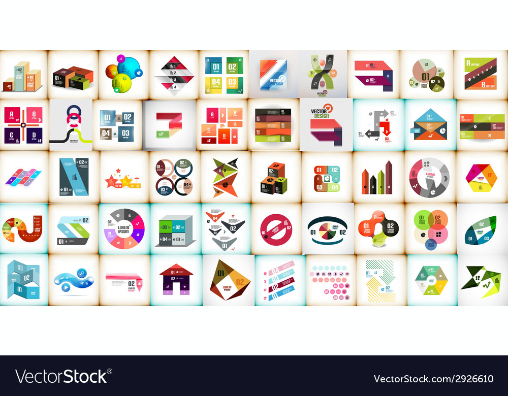 Infographic layouts mega collection vector