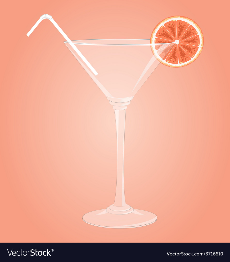Martini glass with grapefruit vector | Price: 1 Credit (USD $1)