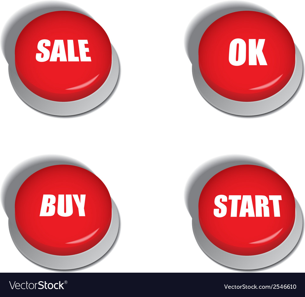 Red buttons with signs - sale buy ok and start vector | Price: 1 Credit (USD $1)