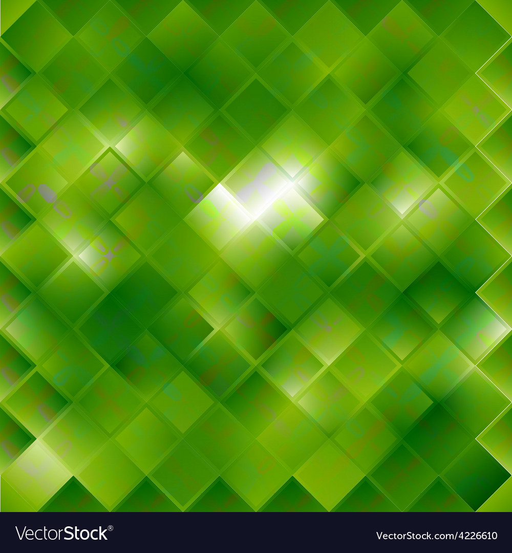 Seamless green pattern of squares vector | Price: 1 Credit (USD $1)
