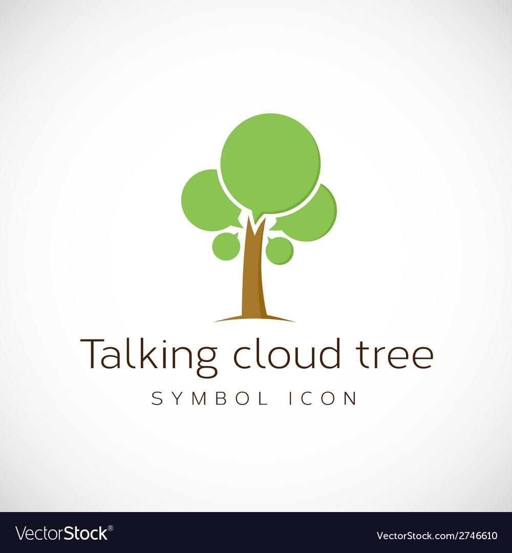 Talking cloud tree concept symbol icon vector   Price: 1 Credit (USD $1)