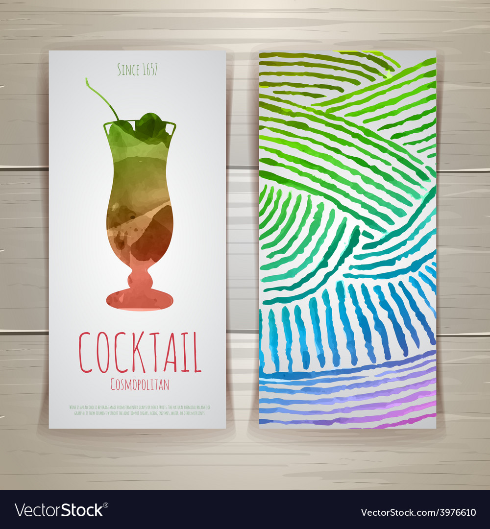 Watercolor decorative cocktail vector | Price: 1 Credit (USD $1)