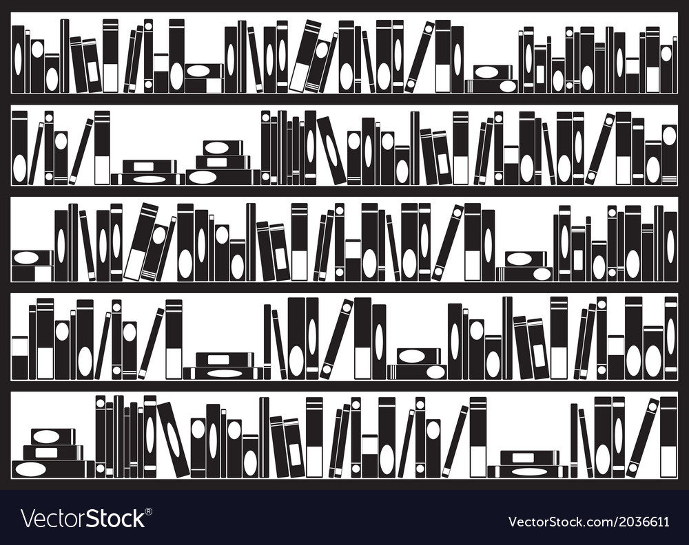 Books on shelves vector | Price: 1 Credit (USD $1)