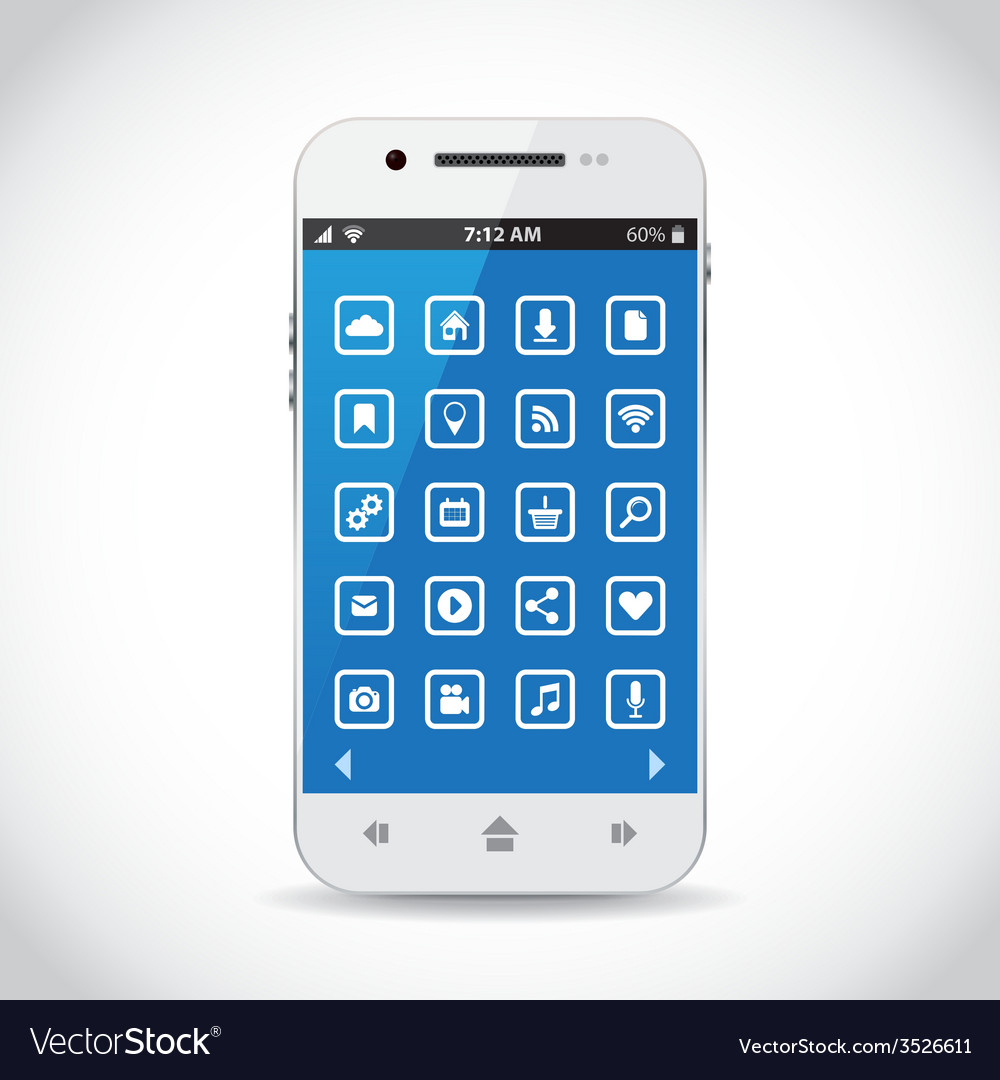 Cellphone apps vector | Price: 1 Credit (USD $1)