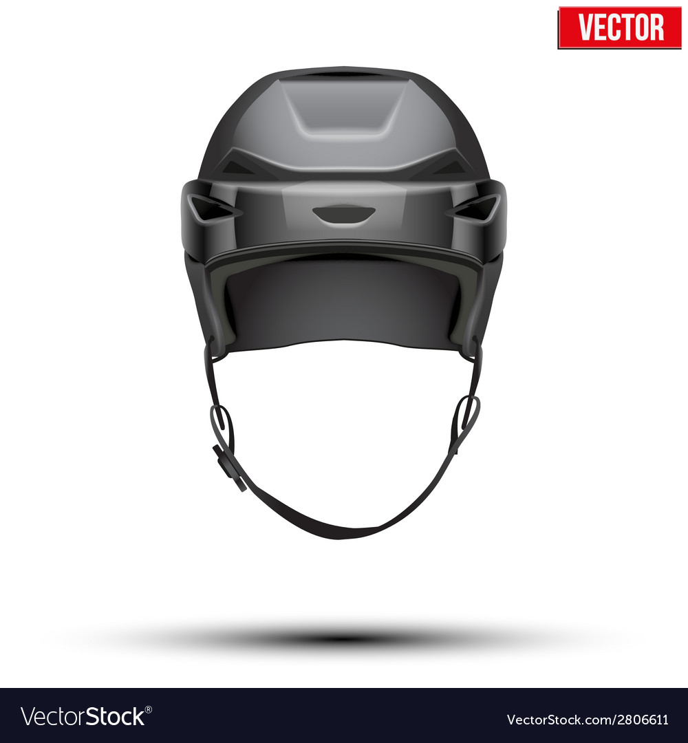Classic black hockey helmet isolated on background vector | Price: 1 Credit (USD $1)