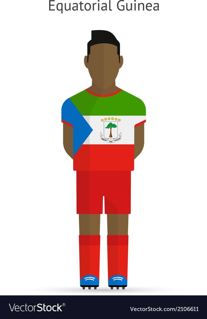 Equatorial guinea football player soccer uniform vector | Price: 1 Credit (USD $1)