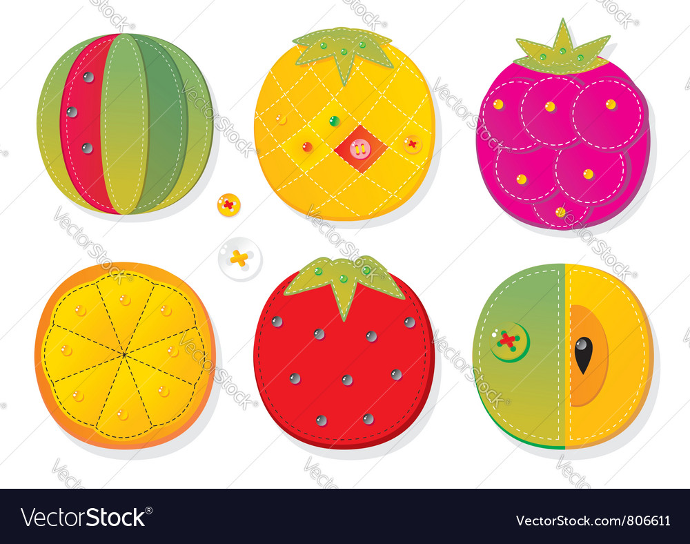 Fruit applique fabric vector | Price: 3 Credit (USD $3)