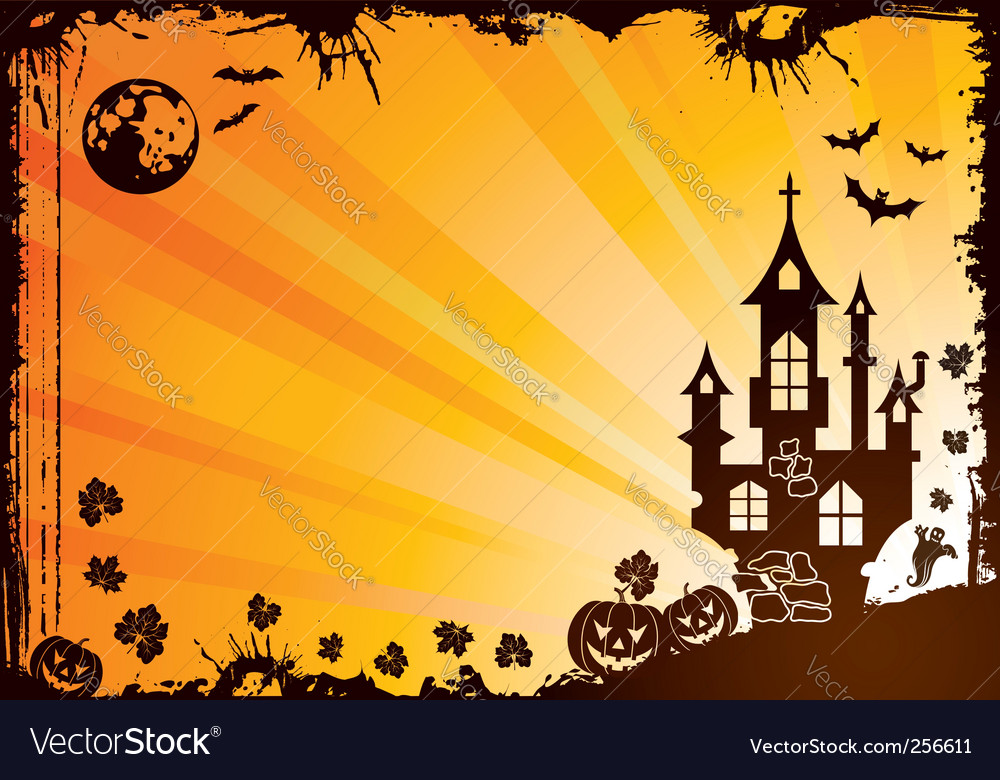 Halloween frame vector | Price: 1 Credit (USD $1)