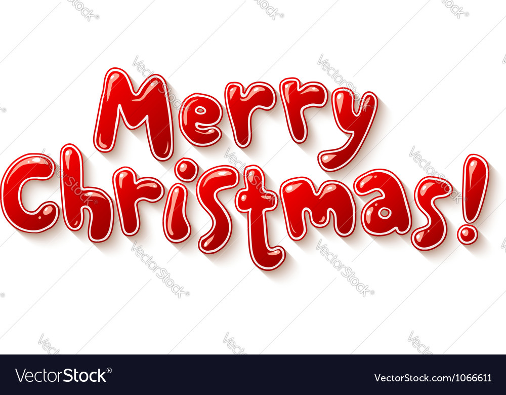 Hand lettering ornate merry christmas sign vector | Price: 1 Credit (USD $1)