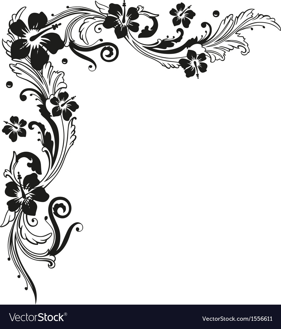 Hibiscus tendril vector | Price: 1 Credit (USD $1)