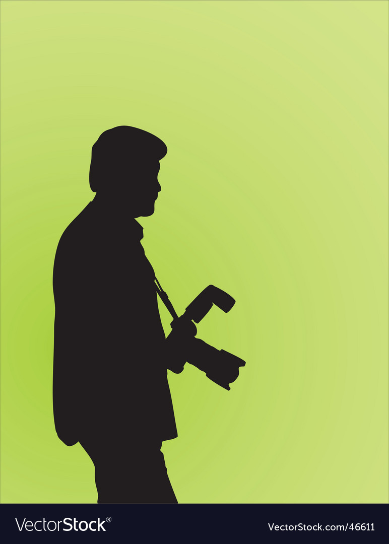 Photographer silhouette vector | Price: 1 Credit (USD $1)