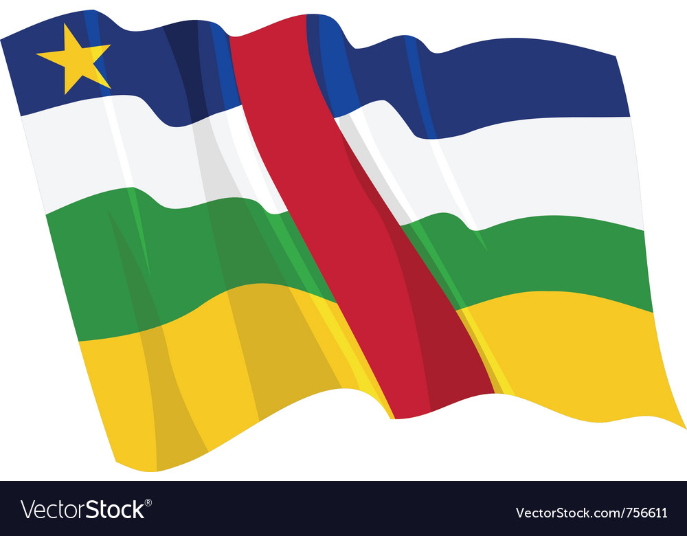 Political waving flag of central african republic vector | Price: 1 Credit (USD $1)