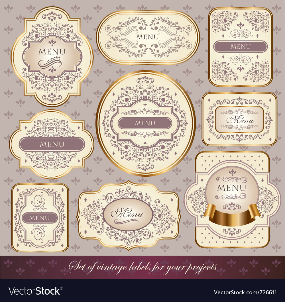 Set of elegance labels vector | Price: 1 Credit (USD $1)