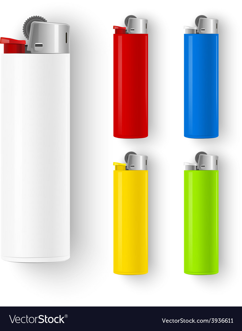 Set of lighters vector | Price: 3 Credit (USD $3)