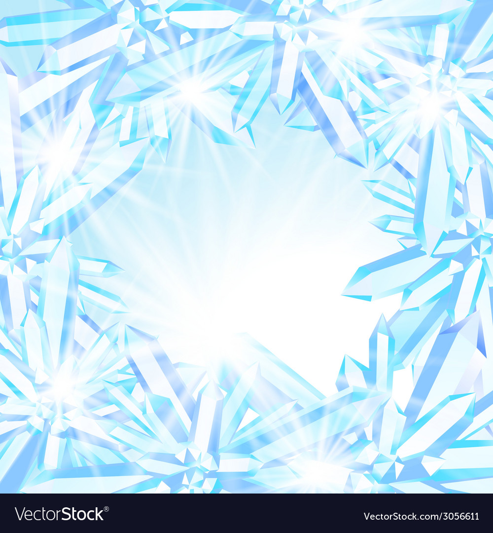 Sparkling ice crystals vector | Price: 1 Credit (USD $1)
