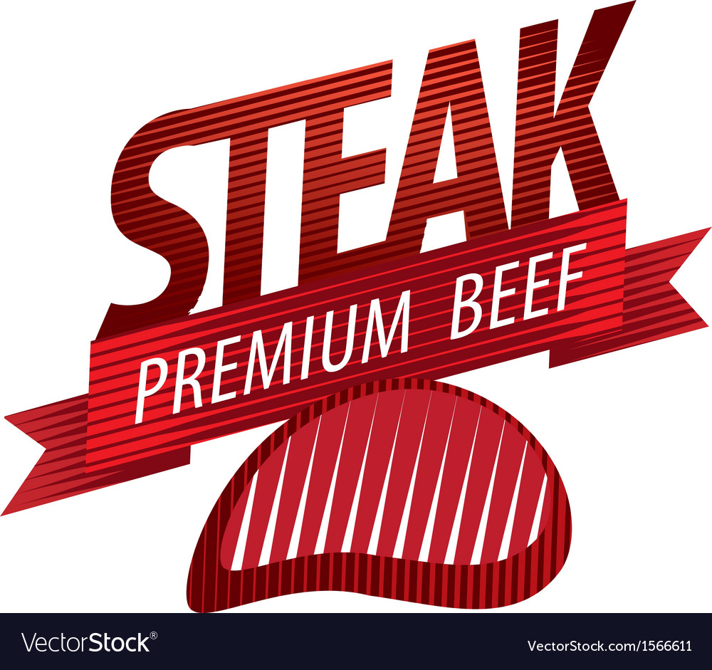 Steak sign vector | Price: 1 Credit (USD $1)