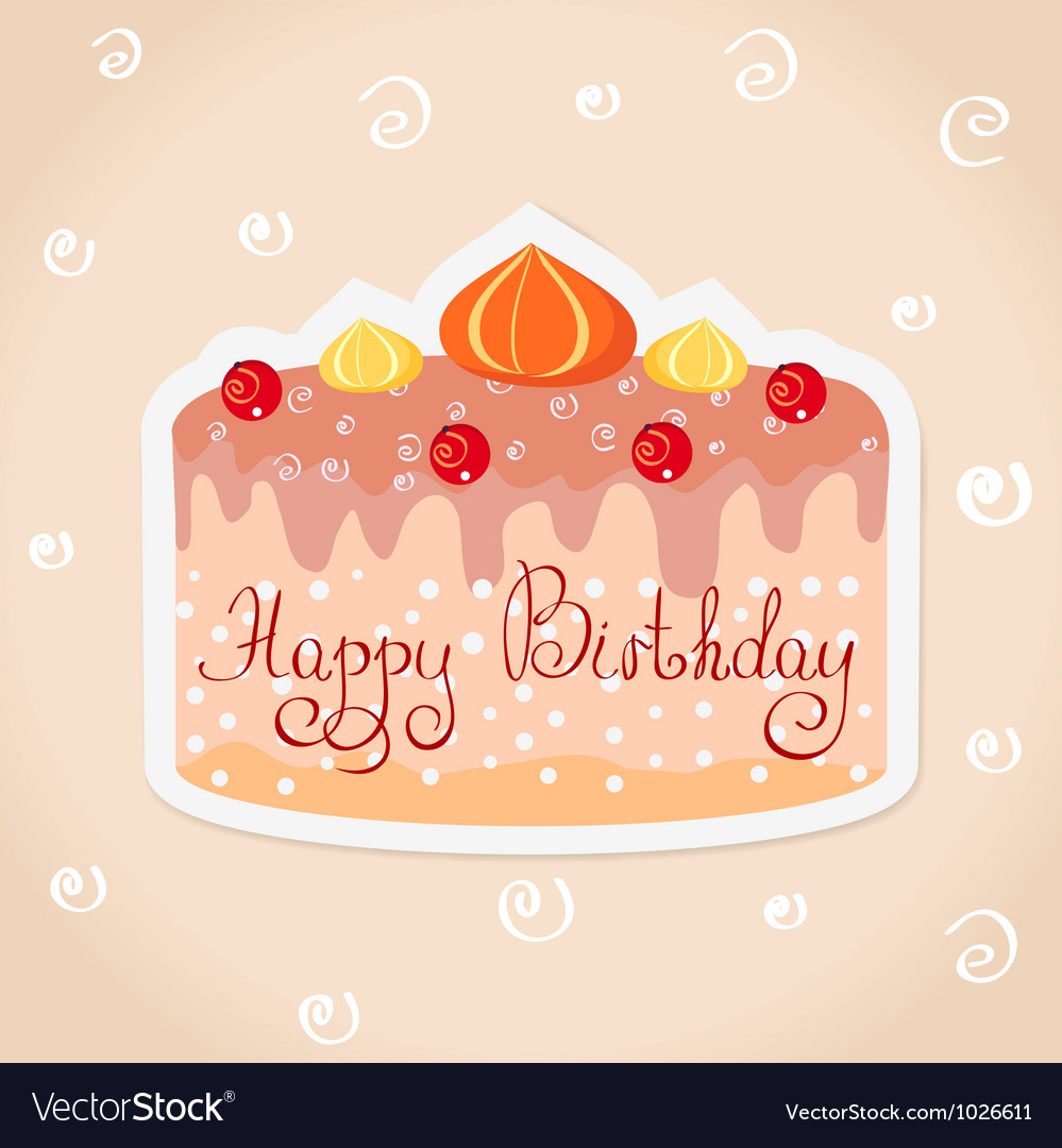 Sticker cake vector | Price: 1 Credit (USD $1)