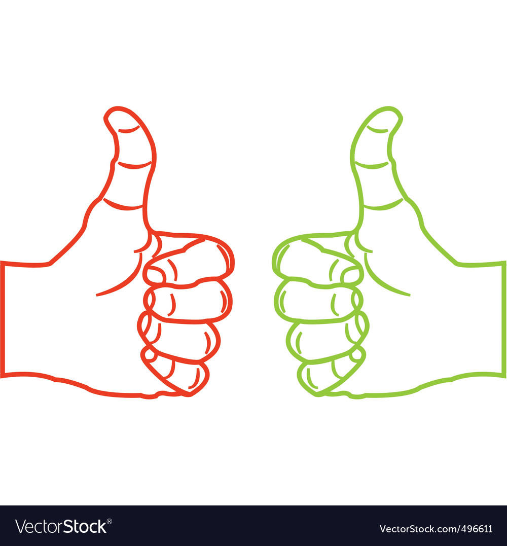 Thumbs up sketch vector | Price: 1 Credit (USD $1)
