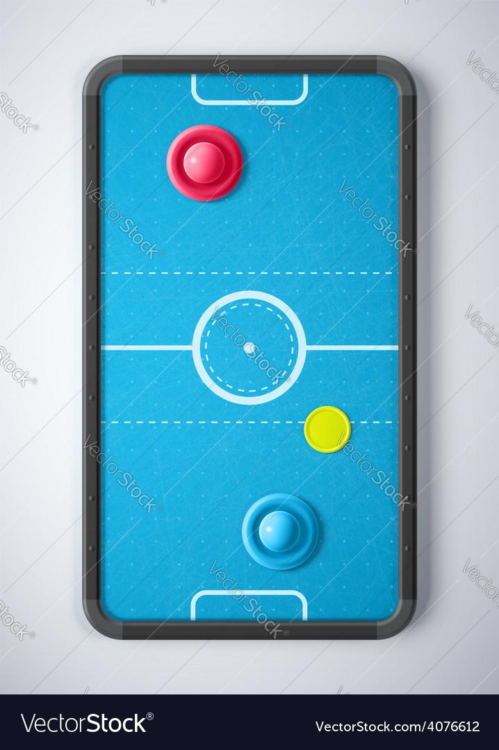 Air hockey table vector | Price: 1 Credit (USD $1)