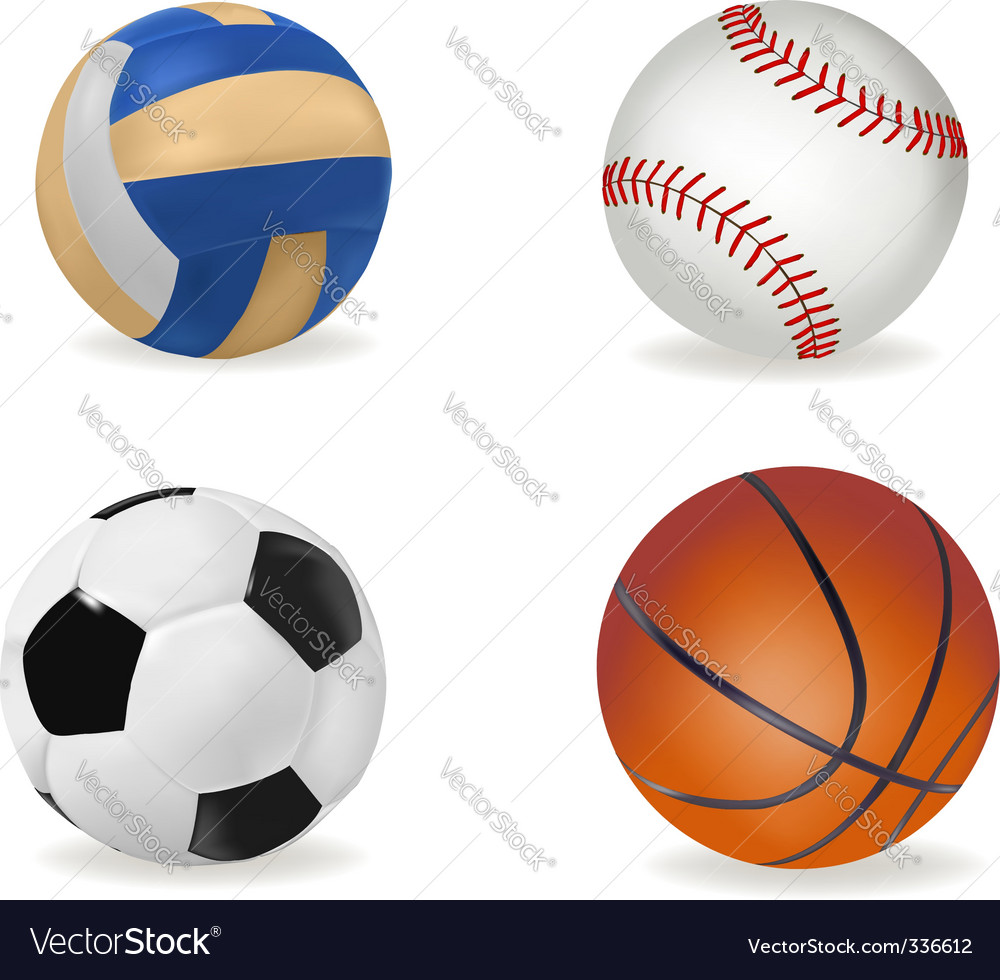 Big set of sport balls vector | Price: 1 Credit (USD $1)