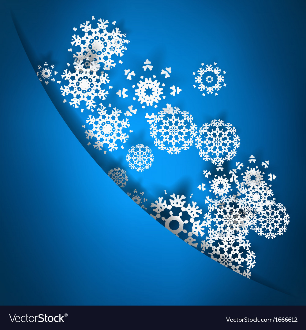 Blue christmas card with snowflakes  eps10 vector | Price: 1 Credit (USD $1)