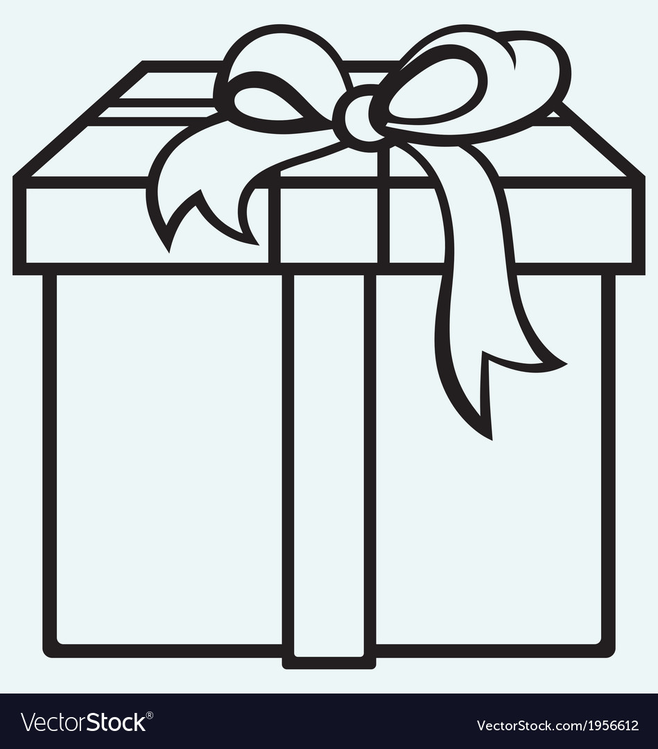 Box with a gift vector | Price: 1 Credit (USD $1)