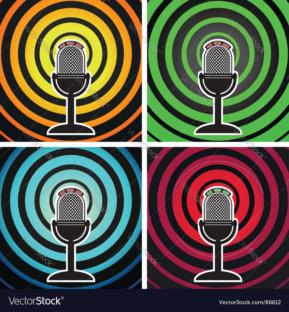 Broadcasting posters vector | Price: 1 Credit (USD $1)