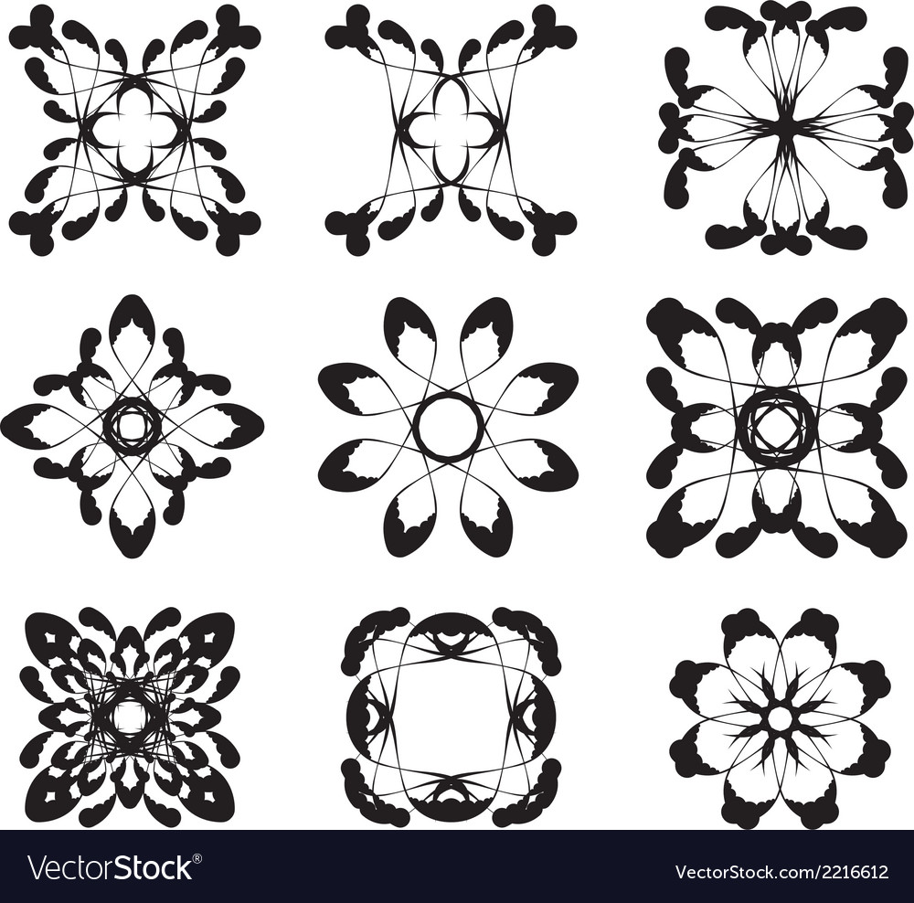Flower symbols vector | Price: 1 Credit (USD $1)