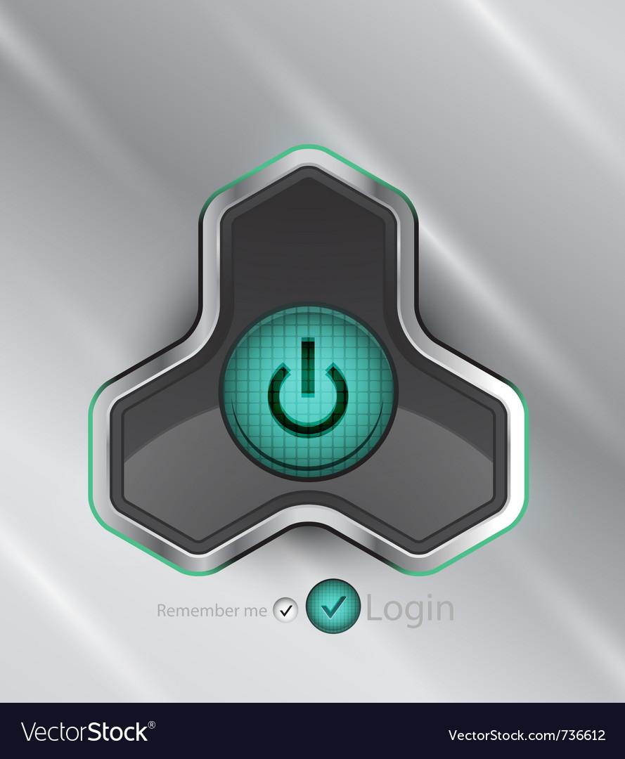 Futuristic power button vector   Price: 1 Credit (USD $1)