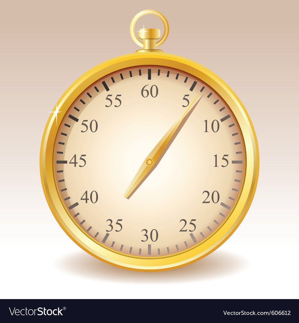 Golden stopwatch vector | Price: 1 Credit (USD $1)