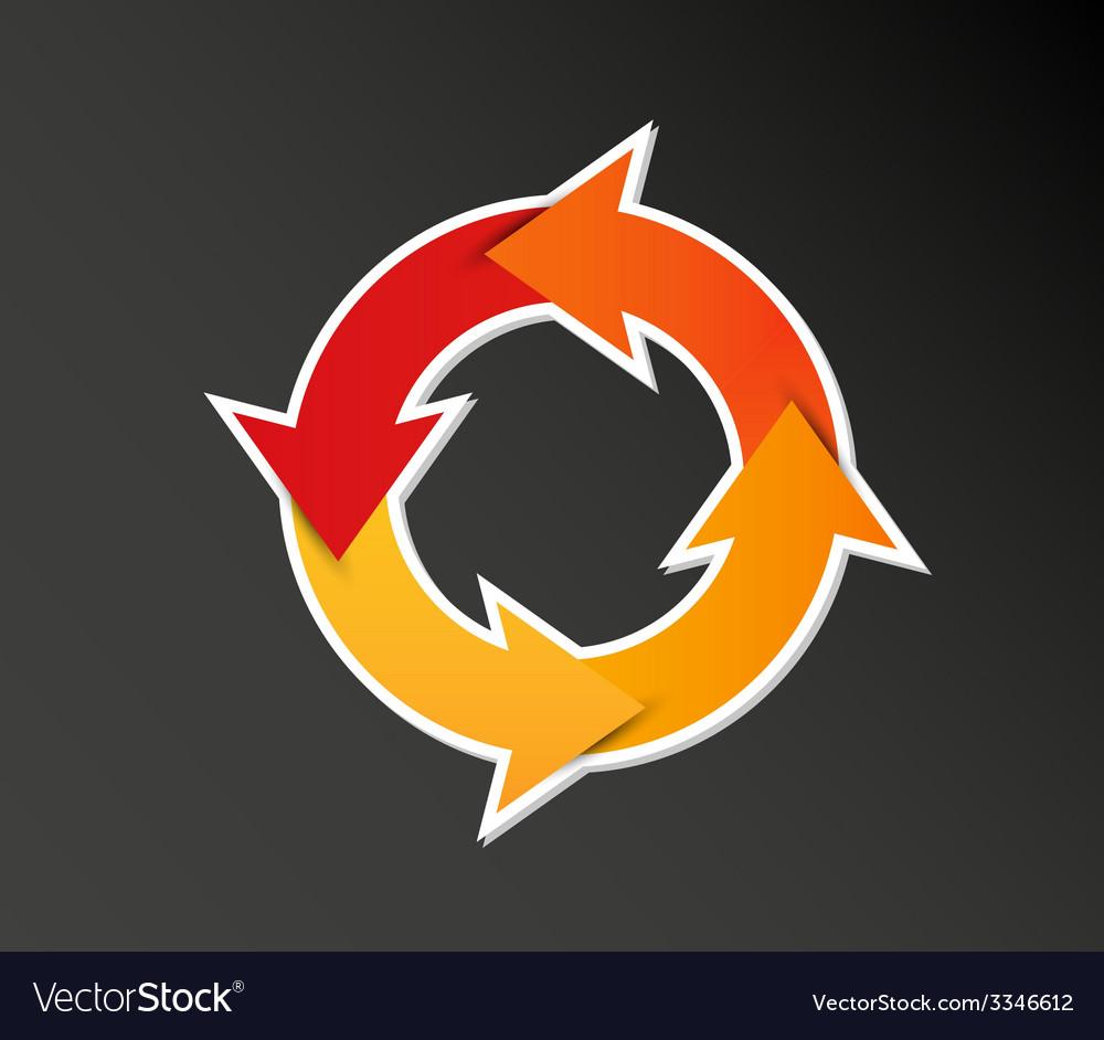 Gradient circle arrows vector | Price: 1 Credit (USD $1)