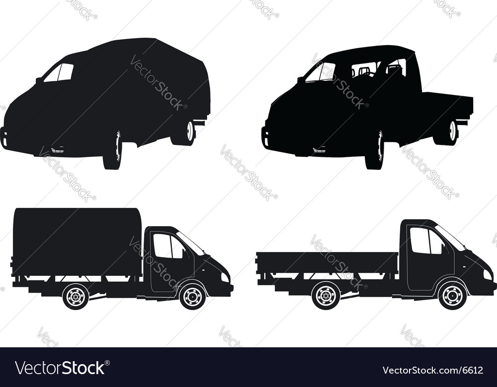 Lorry silhouettes vector | Price: 1 Credit (USD $1)