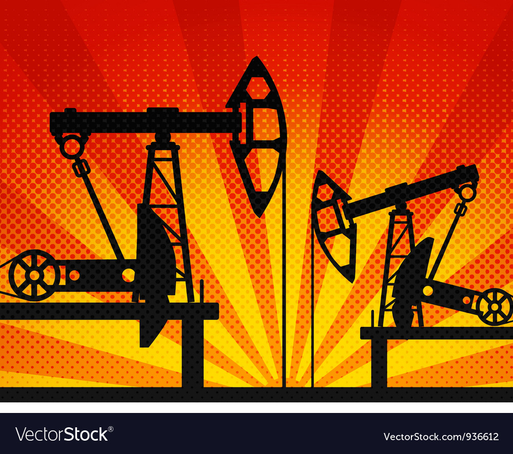 Oil units at work vector | Price: 1 Credit (USD $1)