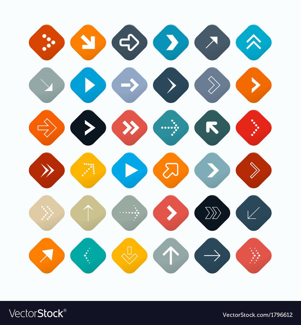 Retro abstract arrows set vector | Price: 1 Credit (USD $1)