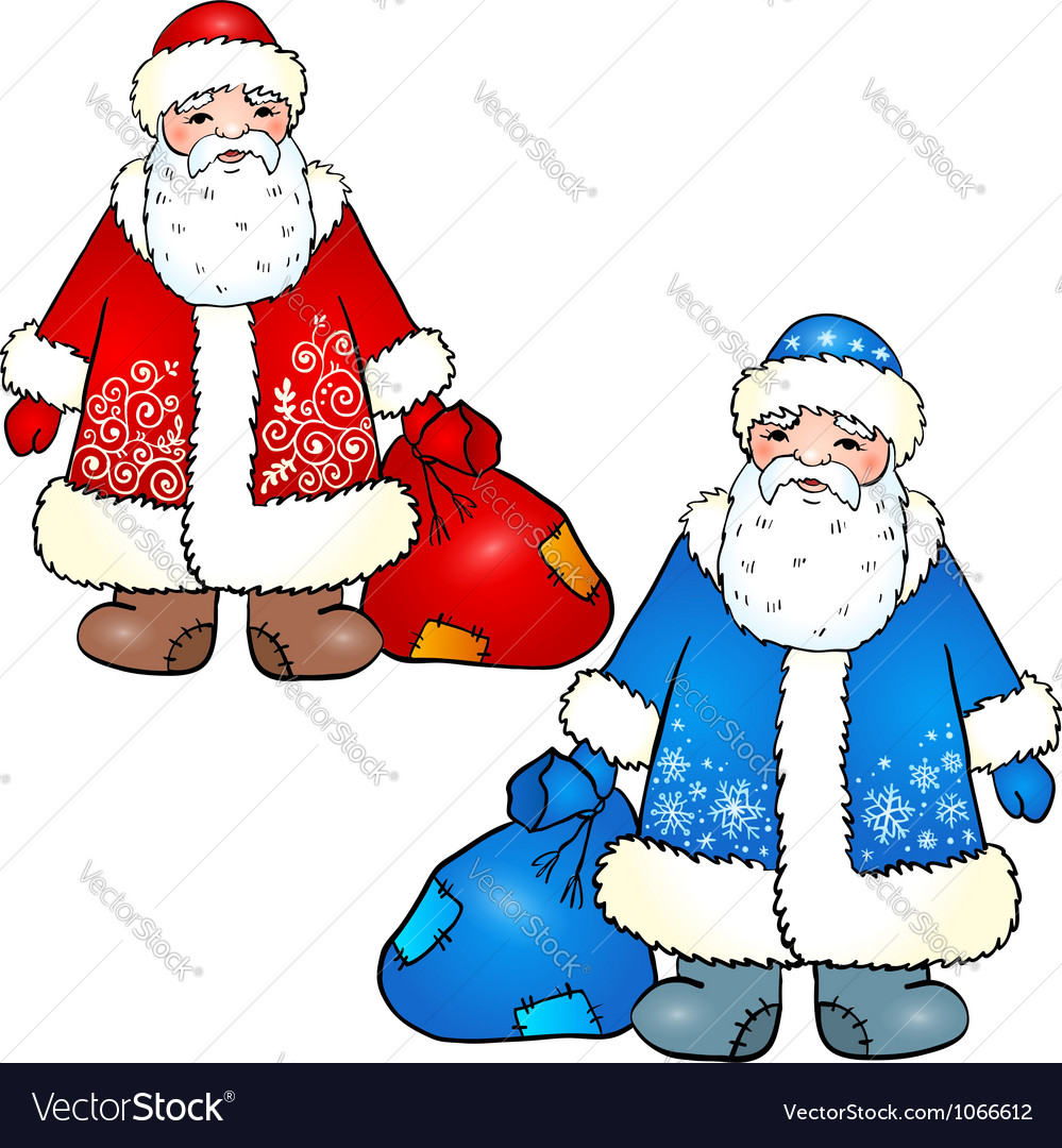 Russian santa claus - grandfather frost vector | Price: 1 Credit (USD $1)