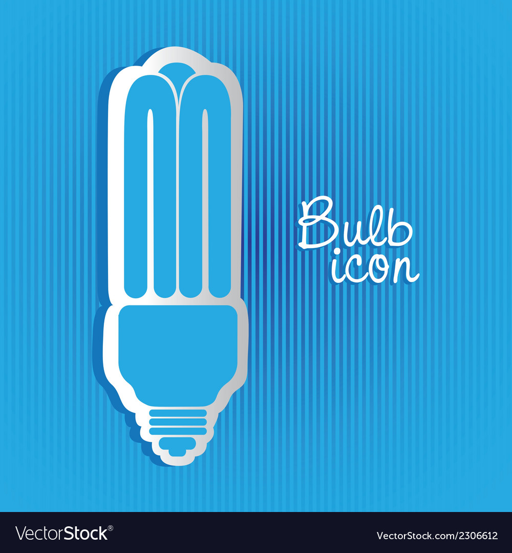 Saving bulb label on background of blue lines vector | Price: 1 Credit (USD $1)
