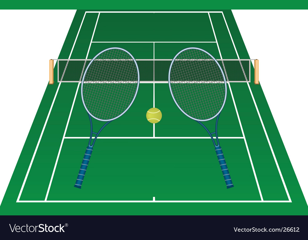 Tennis court vector | Price: 1 Credit (USD $1)