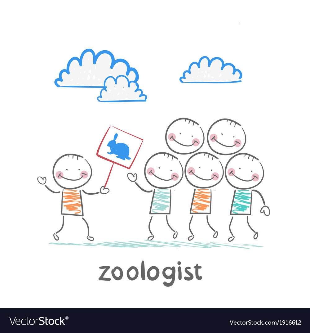 Zoologist says people about turtles vector | Price: 1 Credit (USD $1)