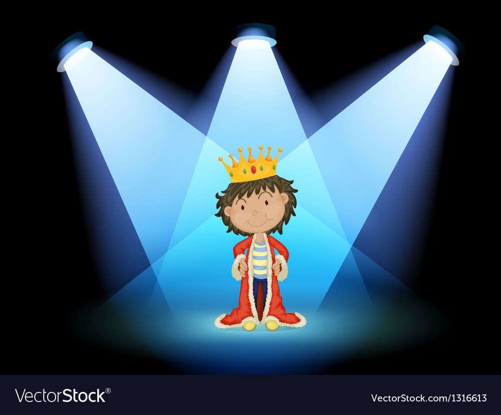 A king at the center of the stage vector | Price: 1 Credit (USD $1)