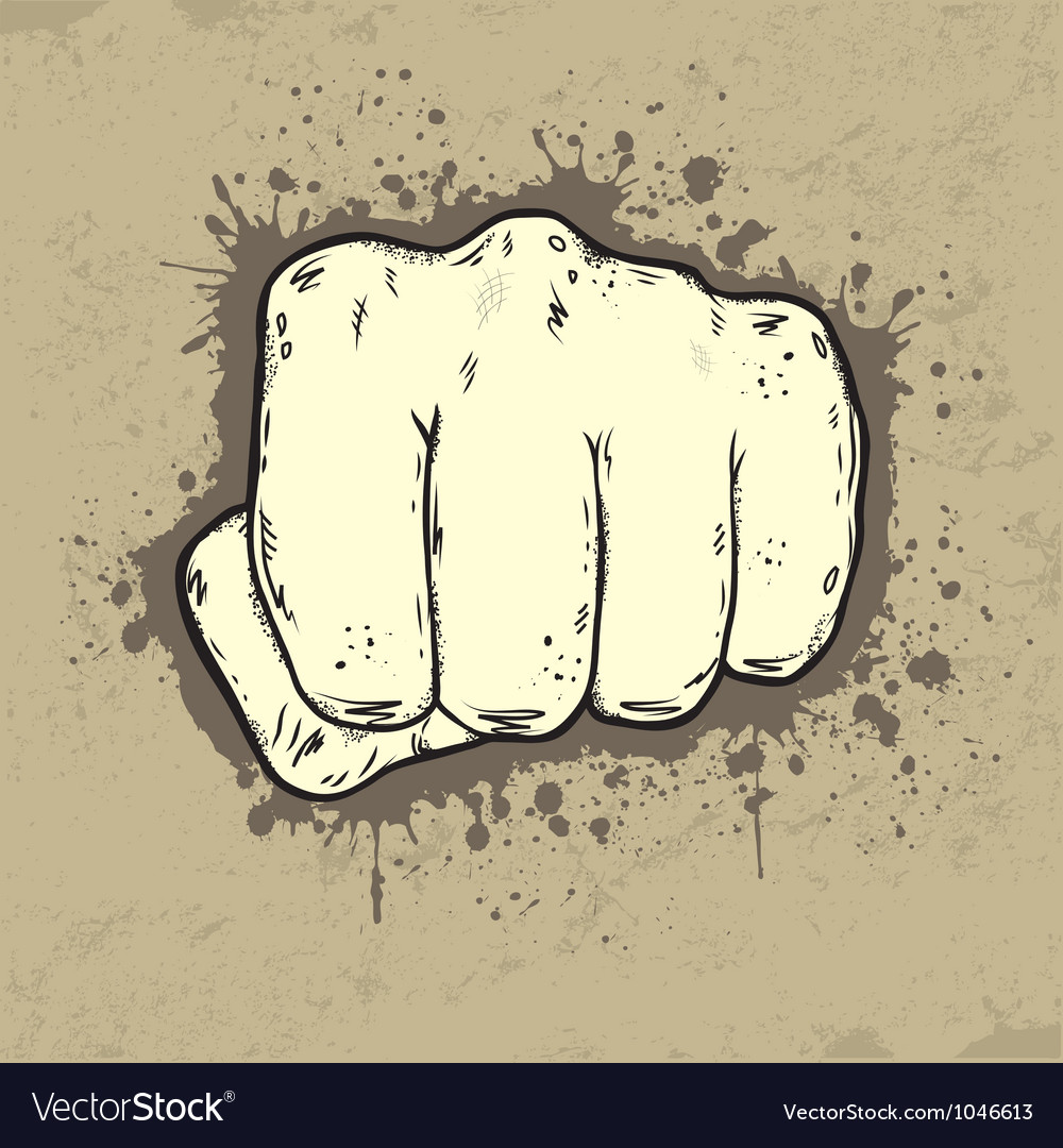 Beautifull of fist in grunge style vector | Price: 1 Credit (USD $1)