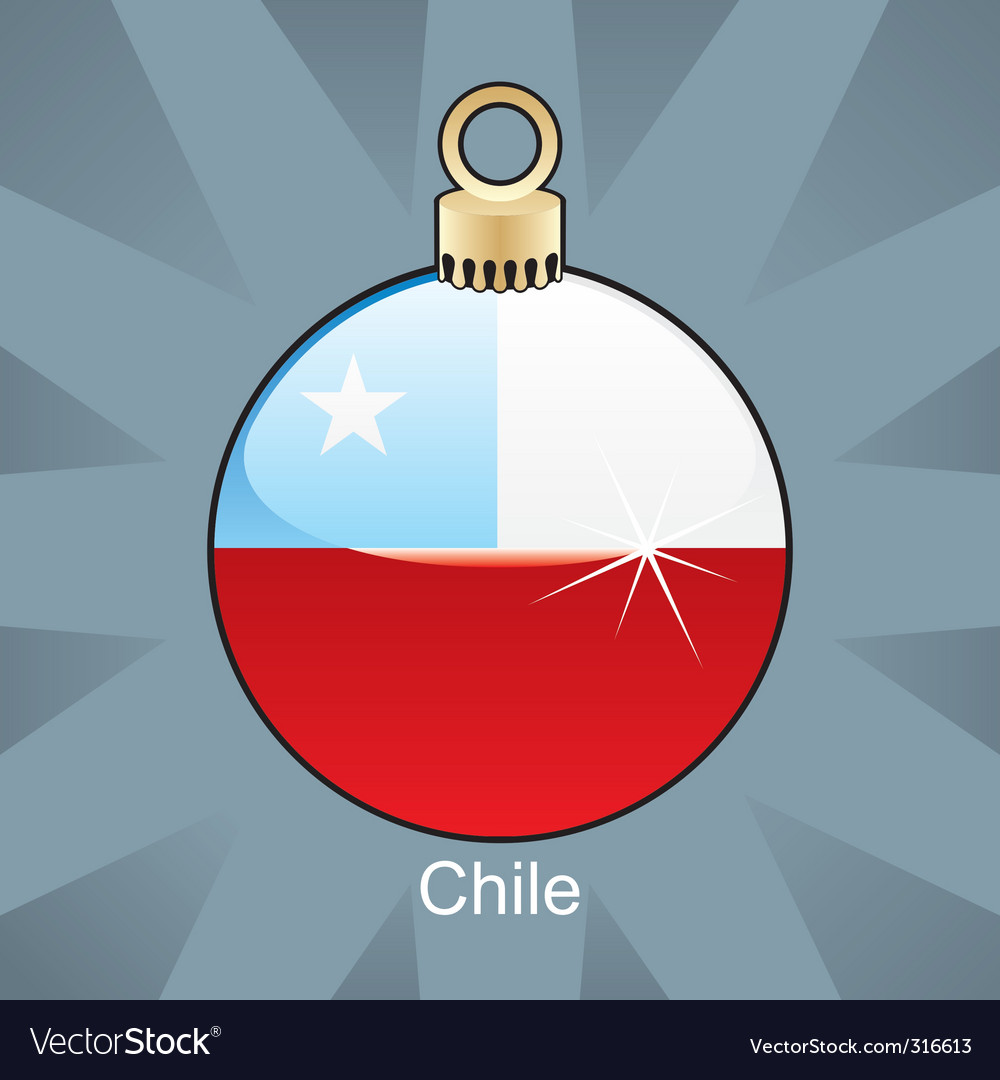Chile flag in bulb vector | Price: 1 Credit (USD $1)