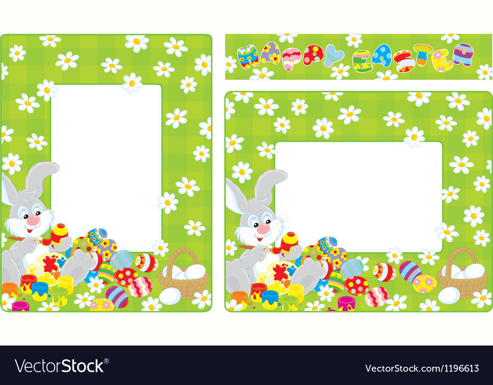 Easter borders vector | Price: 1 Credit (USD $1)