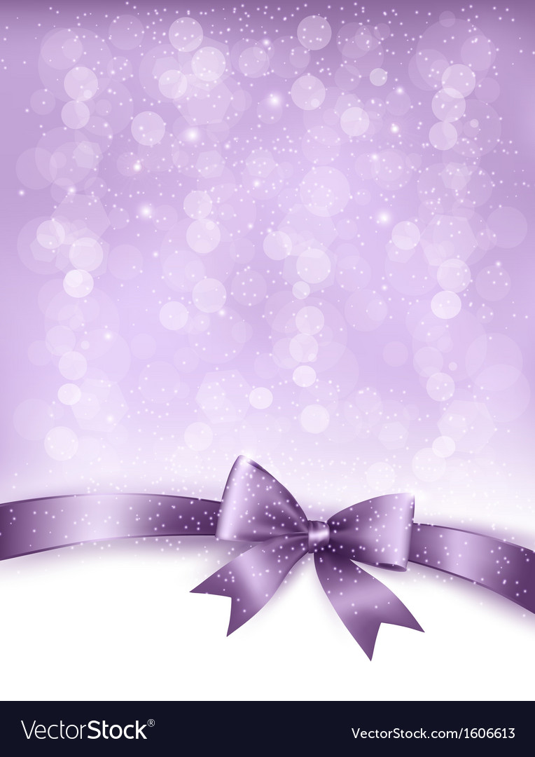 Elegant holiday background with gift bow and vector | Price: 1 Credit (USD $1)