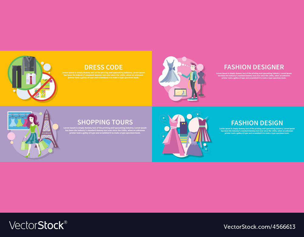 Fashion designer shopping tour dress code vector | Price: 1 Credit (USD $1)