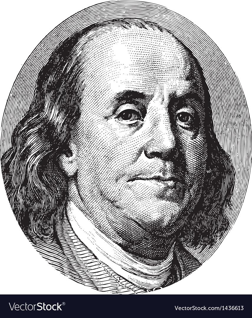 Franklin portrait vector | Price: 1 Credit (USD $1)