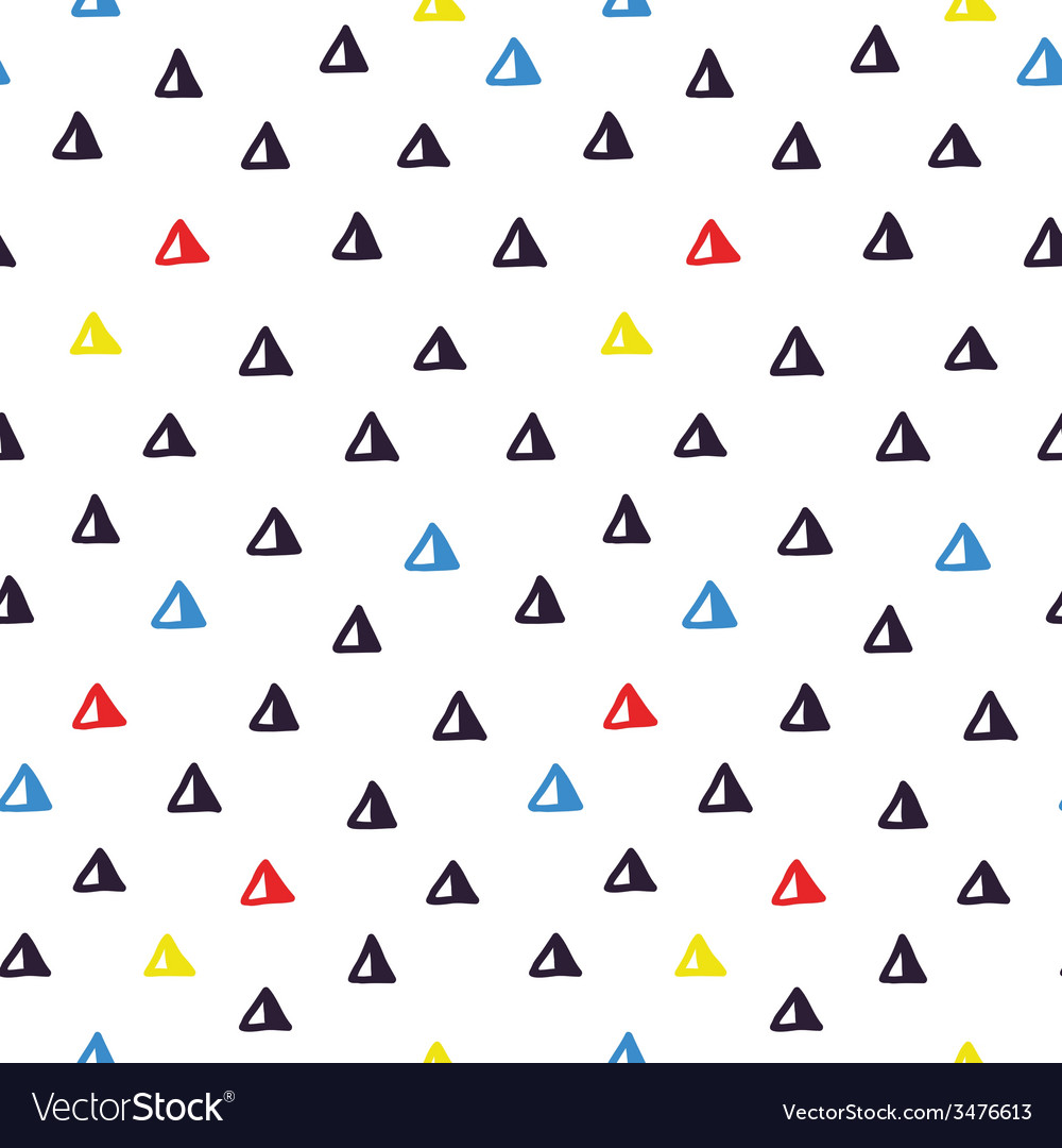 Hand drawn doodle seamless geometric pattern vector | Price: 1 Credit (USD $1)