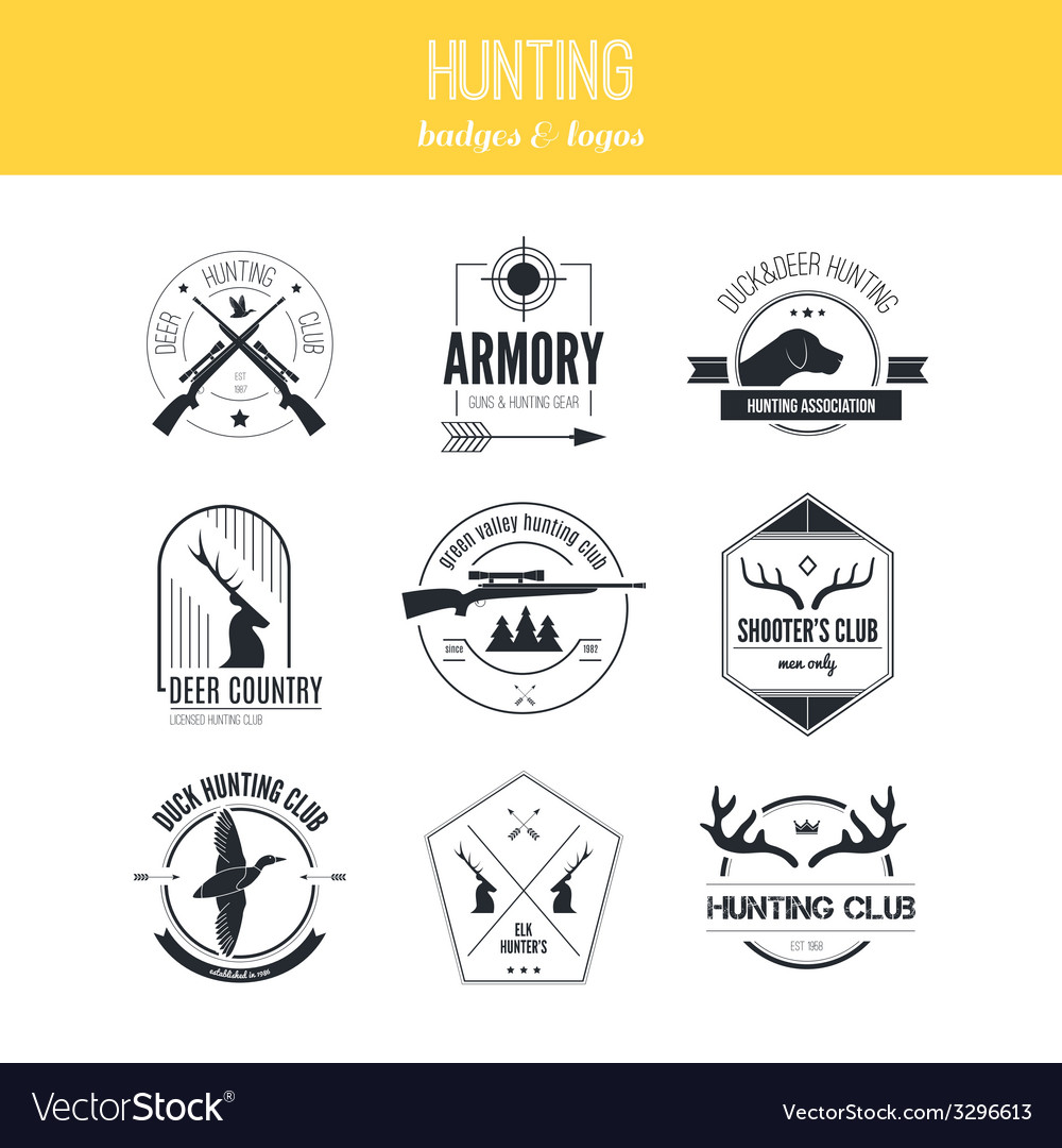 Hunting logos vector   Price: 1 Credit (USD $1)