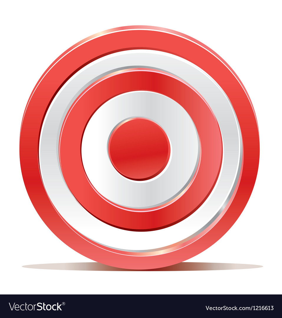 Red darts target aim on white background vector | Price: 1 Credit (USD $1)