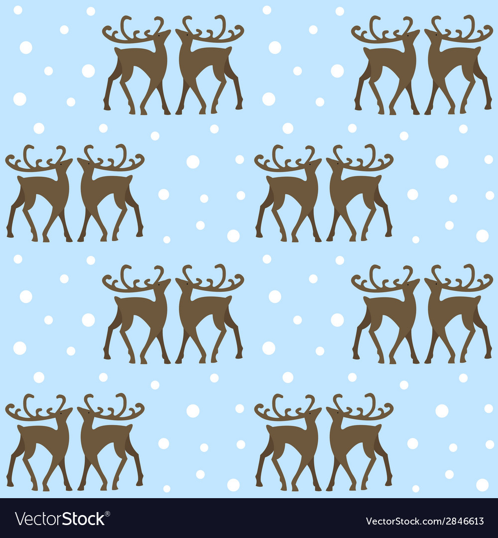 Reindeers in forest vector | Price: 1 Credit (USD $1)