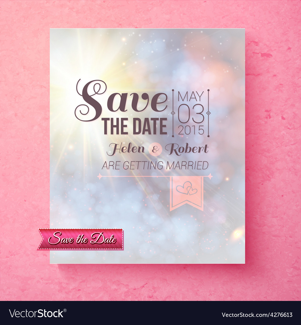 Soft spiritual save the date wedding template vector | Price: 1 Credit (USD $1)